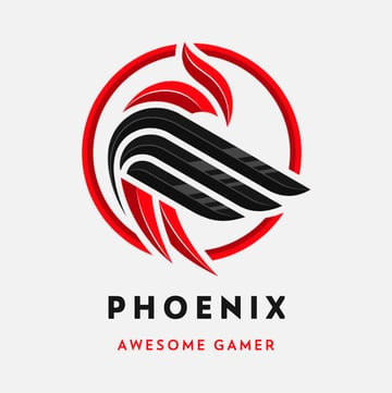 Logo Maker for Professional eSports Players Featuring an Abstract Phoenix Graphic