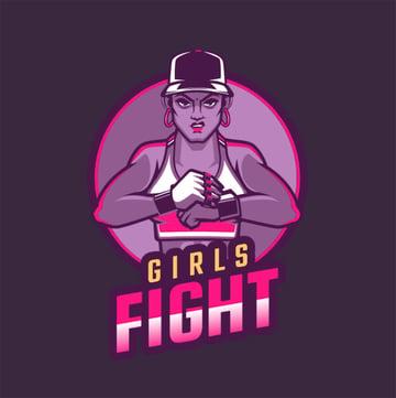 Logo Maker of Strong Girl
