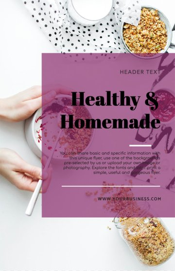 Health Food Flyer Template