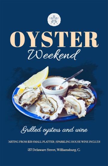 Oyster Restaurant Flyer Ideas