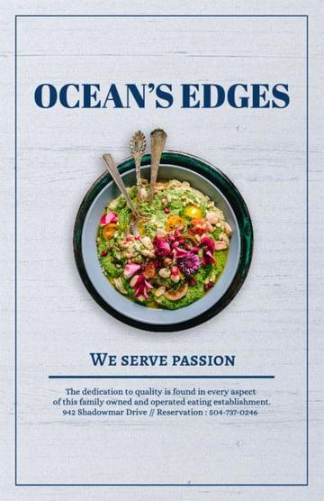 Restaurant Advertising Flyer Template