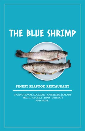 Seafood Restaurant Advertising Flyer