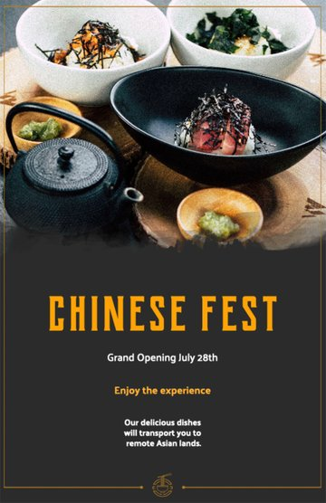 Chinese Restaurant Flyer Template