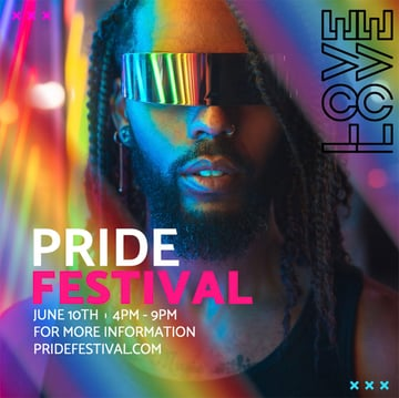 Free Instagram Post Template for Pride Celebration