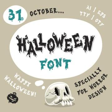 Halloween Letters Font