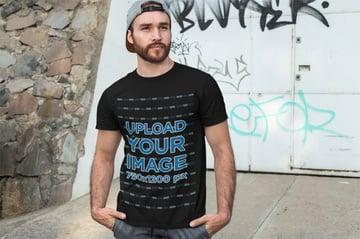 City Life Black T-Shirt Mock up