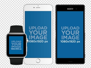 Watch and Android Mockups