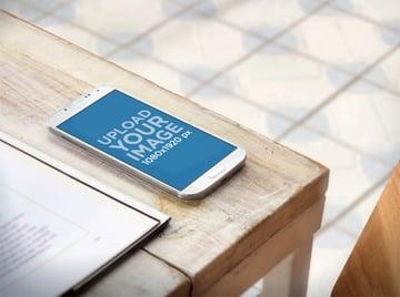 Phone Mockup on Desk