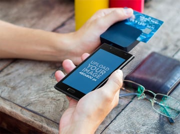 Android and Payment Device Mockup