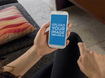 Hand Holding Phone Mockup