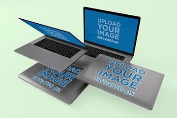 Laptop Sticker Mockup Templates