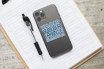 Mobile Phone Sticker Mockup