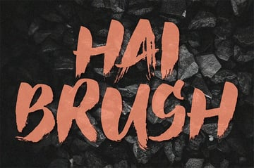 Hai - Japanese Brush Font