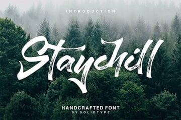 Staychill Handwritten Brush Font