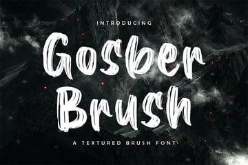 Gosber Brush Pen Font