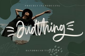 Andthing Brush Style Font