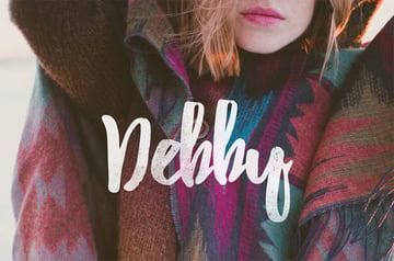 Debby Brush Calligraphy Font