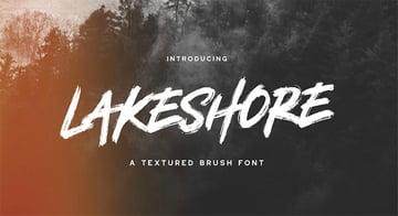 Lakeshore Brush Font Free