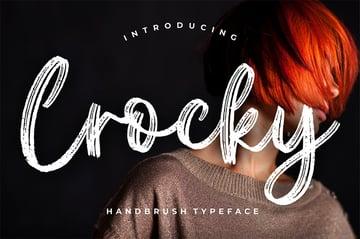 Crocky Brush Lettering Font