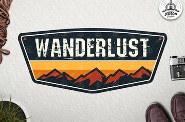 Wanderlust Vintage Badge Logo Patch Vector