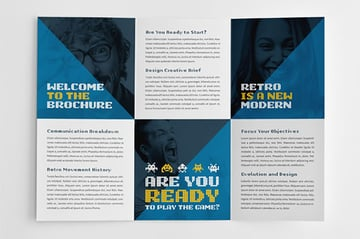 Retro Digital Trifold Brochure