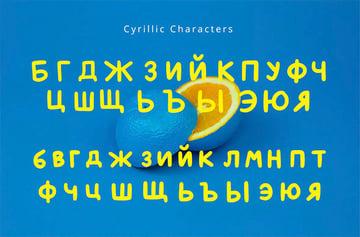 Minako Fonts for Russian Alphabet