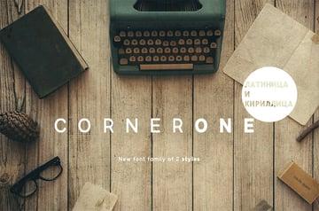 CornerOne Cyrillic Alphabet Font