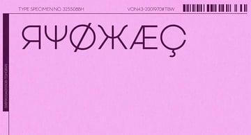 Vonique 43 Cyrillic Style Font
