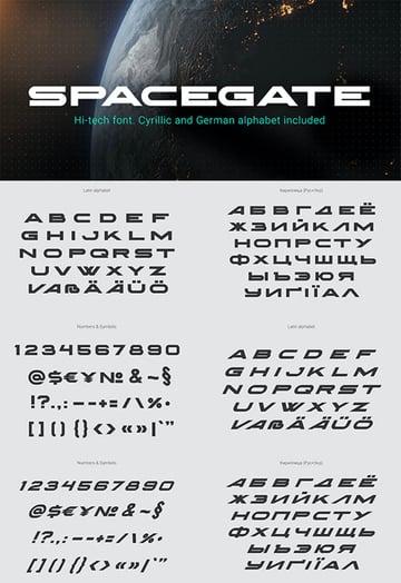 Spacegate Cyrillic Sans Serif Font