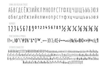 SUNN Line Russian Handwriting Font