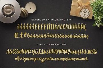 Maloishe Brush Cyrillic Script Font
