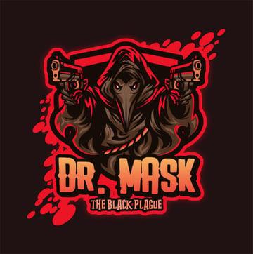Dr. Mask YouTube Gaming Logo Maker