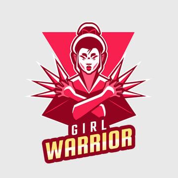 Girl Warrior Gaming Logo Creator