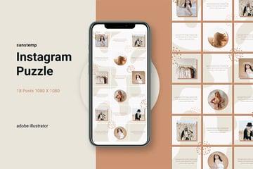 Instagram Puzzle Layout - Sanstemp