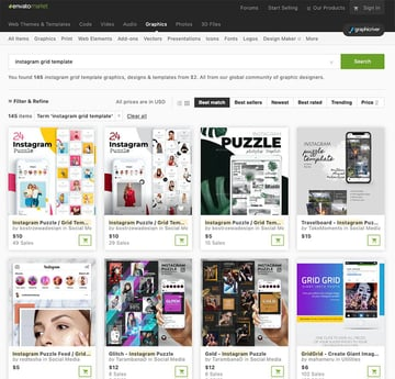More Premium Instagram Grid Template From GraphicRiver