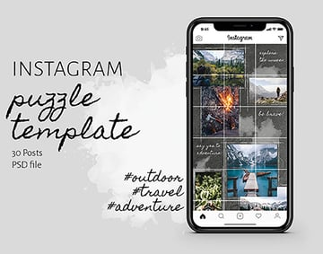 Travelboard Photo Grid Template