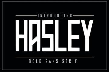 HASLEY Bold Sans Serif Fonts