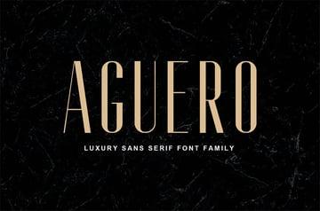 Aguero Sans - Luxury Sans Serif Font