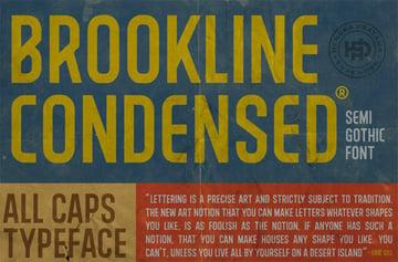 BROOKLINE Modern Sans Serif Font Free