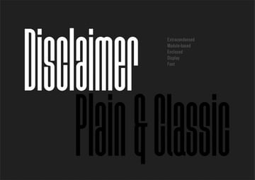 Disclaimer Free Sans Serif Font