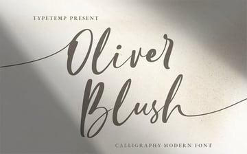 Oliver Blush Wedding Calligraphy Font