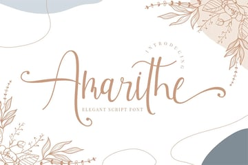 Amarithe - Popular Wedding Invitation Font