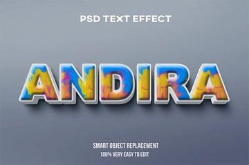 Andira Photoshop Text Effect Styles