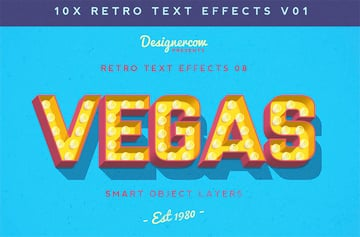 Retro Text Style Photoshop Pack