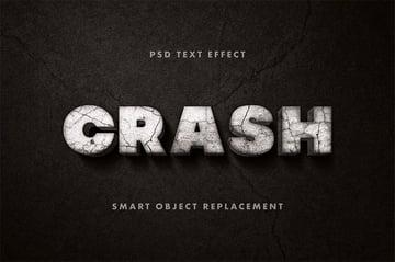 Crashed Old Movie Photoshop Text Style