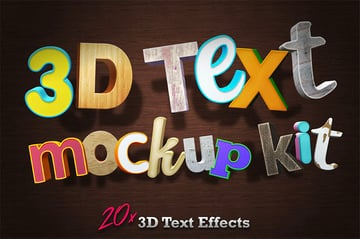 3D Photoshop Text Styles PSD Download