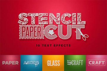 Stencil Photoshop Text Styles Download