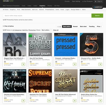 Best Photoshop Text Styles From GraphicRiver