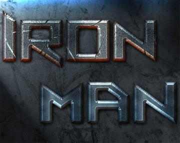Iron Man Old Movie Photoshop Text Styles