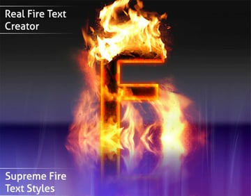 Fire Text Style Photoshop